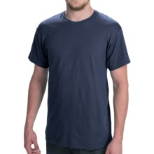 Hanes Comfort Cool Moisture-Wicking T-Shirt - Crew Neck, Short Sleeve (For Men and Women) in Navy - 2nds