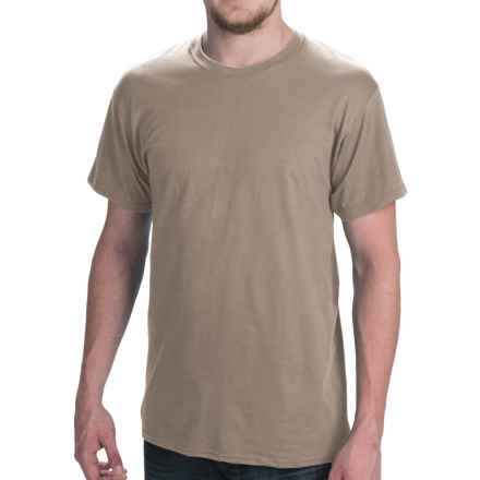 Hanes Comfort Cool Moisture-Wicking T-Shirt - Crew Neck, Short Sleeve (For Men and Women) in Tan - 2nds