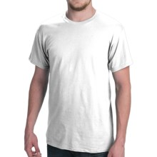 Hanes Comfort Cool Moisture-Wicking T-Shirt - Crew Neck, Short Sleeve (For Men and Women) in White - 2nds