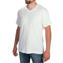 Hanes Comfort Cool Moisture-Wicking T-Shirt - V-Neck, Short Sleeve (For Men and Women) in White - 2nds