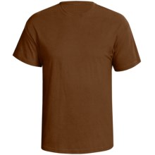 Hanes Comfort-T Shirt - Cotton, Short Sleeve (For Men and Women) in Brown - 2nds