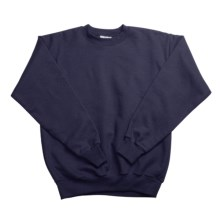 Hanes Comfortblend Fleece Sweatshirt - Crew Neck (For Youth) in Dark Blue - 2nds