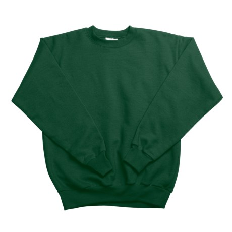 Hanes Comfortblend Fleece Sweatshirt - Crew Neck (For Youth) in Dark Green
