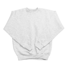 Hanes Comfortblend Fleece Sweatshirt - Crew Neck (For Youth) in Light Grey Heather - 2nds