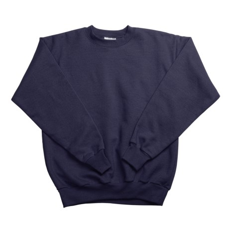 Hanes Comfortblend Fleece Sweatshirt - Crew Neck (For Youth) in Navy
