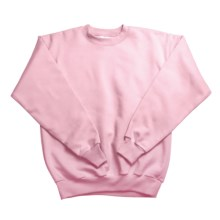 Hanes Comfortblend Fleece Sweatshirt - Crew Neck (For Youth) in Pink - 2nds