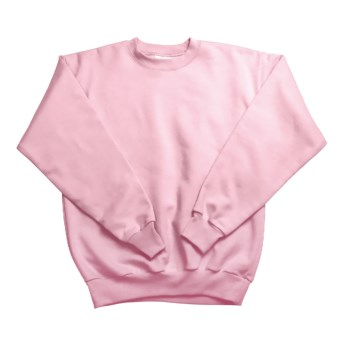 Hanes Comfortblend Fleece Sweatshirt - Crew Neck (For Youth) in Pink