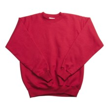 Hanes Comfortblend Fleece Sweatshirt - Crew Neck (For Youth) in Red - 2nds