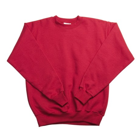 Hanes Comfortblend Fleece Sweatshirt - Crew Neck (For Youth) in Red
