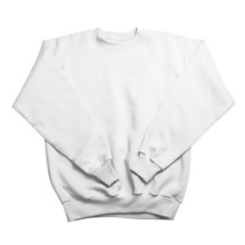 Hanes Comfortblend Fleece Sweatshirt - Crew Neck (For Youth) in White - 2nds