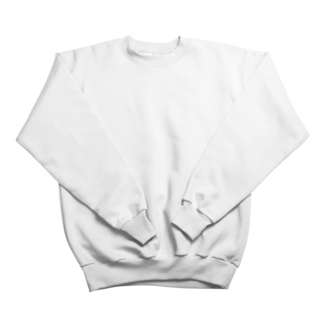 Hanes Comfortblend Fleece Sweatshirt - Crew Neck (For Youth) in White