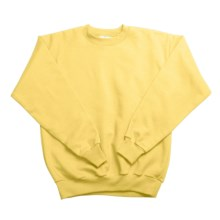 Hanes Comfortblend Fleece Sweatshirt - Crew Neck (For Youth) in Yellow - 2nds