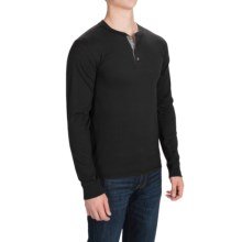 Hanes ComfortBlend Henley Shirt - Long Sleeve (For Men and Big Men) in Black - 2nds