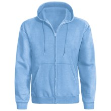 Hanes ComfortBlend® Hoodie - Full Zip (For Men and Women) in Light Blue - 2nds