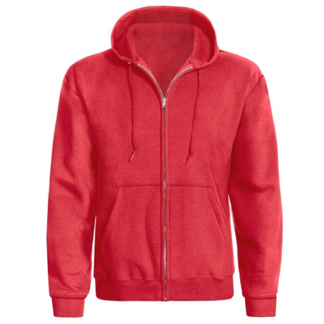 Hanes ComfortBlend® Hoodie - Full Zip (For Men and Women) in Red