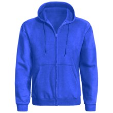 Hanes ComfortBlend® Hoodie - Full Zip (For Men and Women) in Royal - 2nds