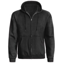 Hanes ComfortBlend® Hoodie Sweatshirt - Full Zip (For Men and Women) in Black - 2nds