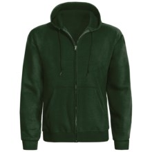 Hanes ComfortBlend® Hoodie Sweatshirt - Full Zip (For Men and Women) in Dark Green - 2nds