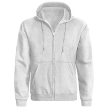 Hanes ComfortBlend® Hoodie Sweatshirt - Full Zip (For Men and Women) in Light Grey Heather - 2nds