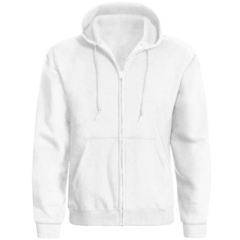 Hanes ComfortBlend® Hoodie Sweatshirt - Full Zip (For Men and Women) in White