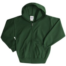 Hanes ComfortBlend® Hoodie Sweatshirt - Full-Zip (For Youth) in Dark Green - 2nds