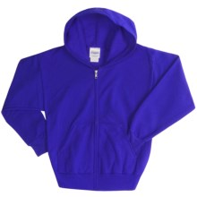 Hanes ComfortBlend® Hoodie Sweatshirt - Full-Zip (For Youth) in Royal - 2nds