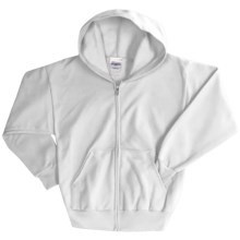 Hanes ComfortBlend® Hoodie Sweatshirt - Full-Zip (For Youth) in White - 2nds