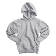Hanes Comfortblend Pullover Hoodie (For Youth) in Grey Heather - 2nds