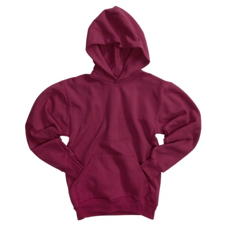 Hanes Comfortblend Pullover Hoodie (For Youth) in Wine
