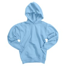 Hanes Comfortblend Pullover Hoodie Sweatshirt (For Youth) in Light Blue - 2nds