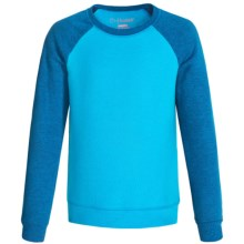 Hanes ComfortBlend Sweatshirt - Crew Neck (For Little and Big Girls) in Blue/Dark Blue Heather - 2nds