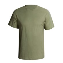 Hanes Comfortsoft Heavyweight T-Shirt - 5.5. oz. Cotton, Short Sleeve (For Men and Women) in Olive - 2nds