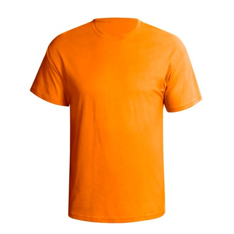 Hanes Comfortsoft Heavyweight T-Shirt - 5.5. oz. Cotton, Short Sleeve (For Men and Women) in Orange