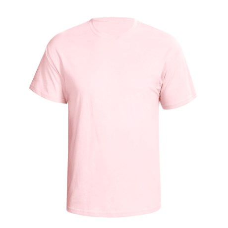 Hanes Comfortsoft Heavyweight T-Shirt - 5.5. oz. Cotton, Short Sleeve (For Men and Women) in Pink