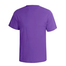 Hanes Comfortsoft Heavyweight T-Shirt - 5.5. oz. Cotton, Short Sleeve (For Men and Women) in Purple - 2nds