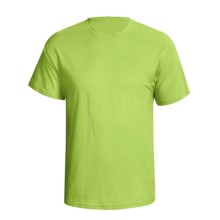 Hanes Comfortsoft Heavyweight T-Shirt - 5.5. oz. Cotton, Short Sleeve (For Men and Women) in Yellow Green - 2nds