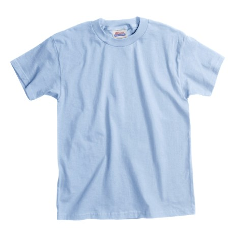 Hanes Comfortsoft T-Shirt - Heavyweight, Short Sleeve (For Youth) in Light Blue