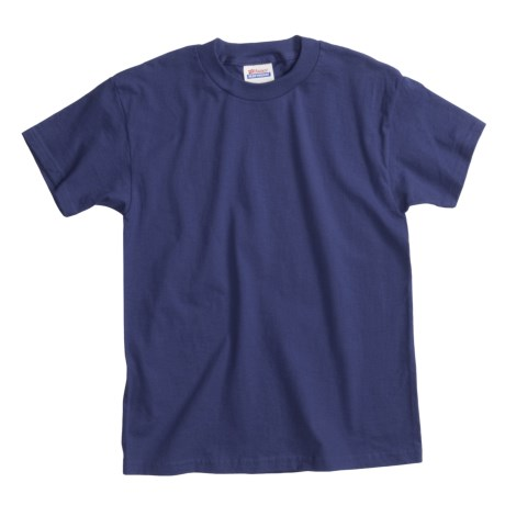 Hanes Comfortsoft T-Shirt - Heavyweight, Short Sleeve (For Youth) in Navy