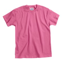 Hanes Comfortsoft T-Shirt - Heavyweight, Short Sleeve (For Youth) in Pink - 2nds