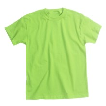 Hanes Comfortsoft T-Shirt - Heavyweight, Short Sleeve (For Youth) in Yellow Green - 2nds