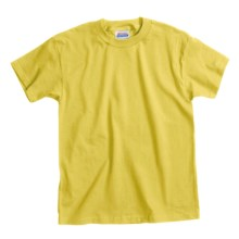 Hanes Comfortsoft T-Shirt - Heavyweight, Short Sleeve (For Youth) in Yellow - 2nds