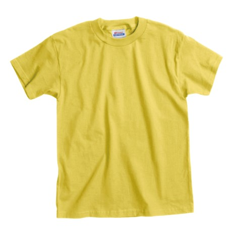 Hanes Comfortsoft T-Shirt - Heavyweight, Short Sleeve (For Youth) in Yellow