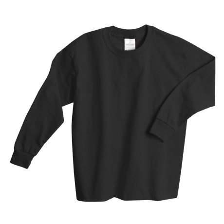 Hanes Comfortsoft T-Shirt -, Long Sleeve (For Youth) in Black
