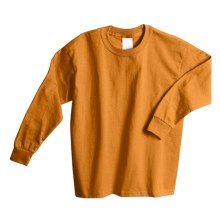 Hanes Comfortsoft T-Shirt -, Long Sleeve (For Youth) in Gold - 2nds