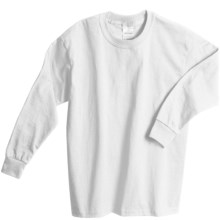 Hanes Comfortsoft T-Shirt -, Long Sleeve (For Youth) in White - 2nds