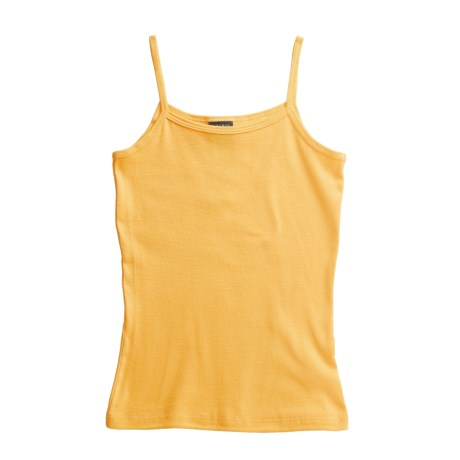 Hanes Cotton Knit Tank Top - Spaghetti Straps (For Women) in Canary