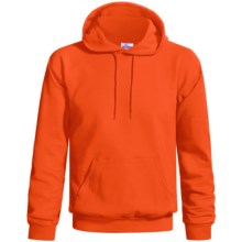 Hanes Cotton-Rich 9 oz Hoodie - No Shrink, Pill Resistant (For Men and Women) in Blaze Orange - 2nds