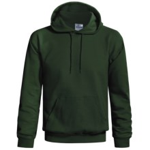 Hanes Cotton-Rich 9 oz Hoodie - No Shrink, Pill Resistant (For Men and Women) in Dark Green - 2nds