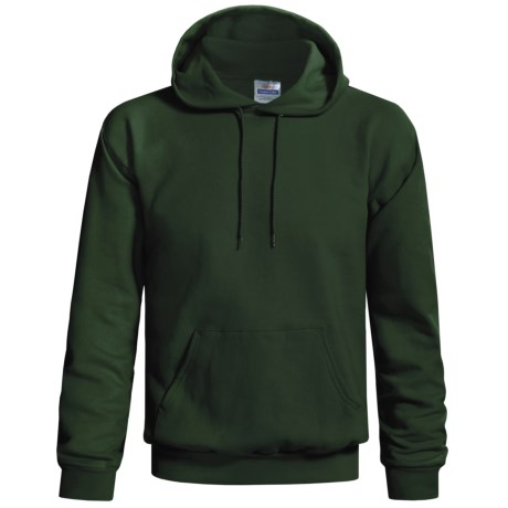 Hanes Cotton-Rich 9 oz Hoodie - No Shrink, Pill Resistant (For Men and Women) in Dark Green