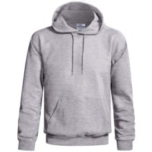 Hanes Cotton-Rich 9 oz Hoodie - No Shrink, Pill Resistant (For Men and Women) in Grey Heather - 2nds